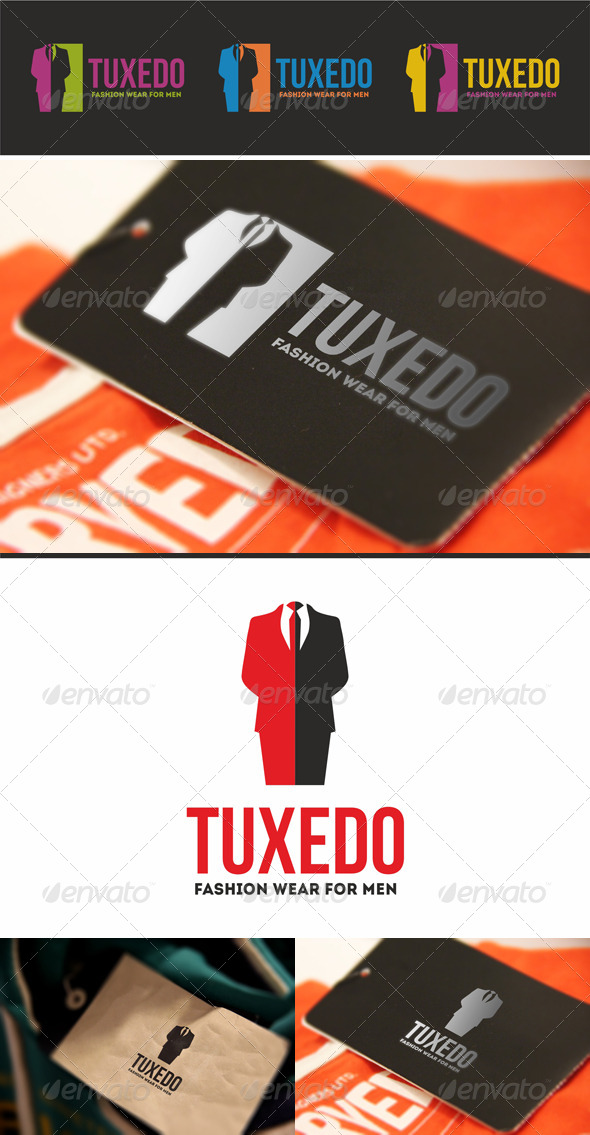 GraphicRiver Tuxedo Men Fashion Wear Logo 5640740