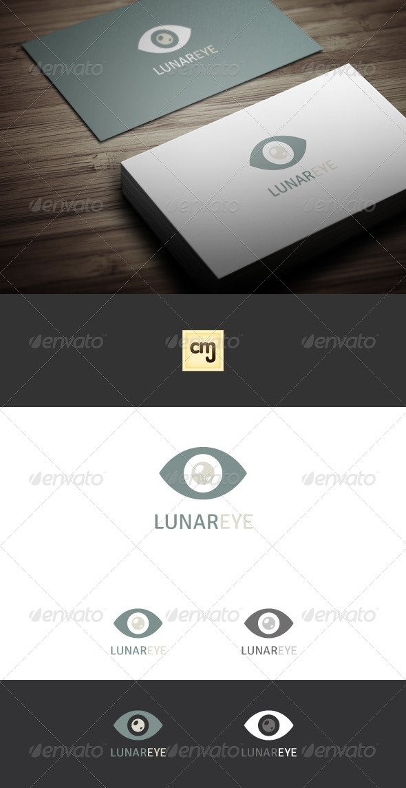 GraphicRiver Lunar Eye Logo Template 5632835