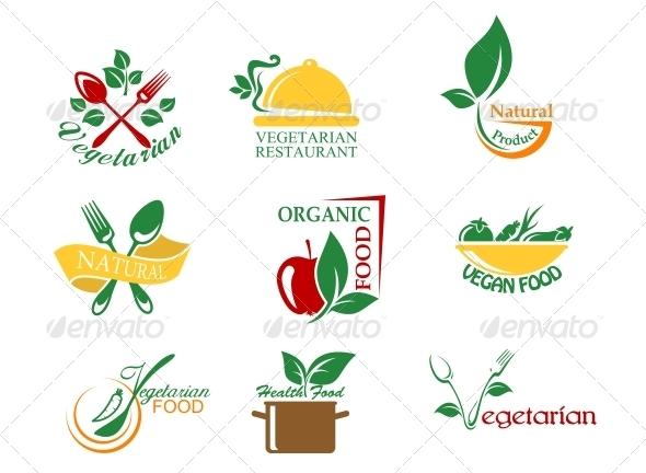GraphicRiver Vegetarian Food Symbols 5641004