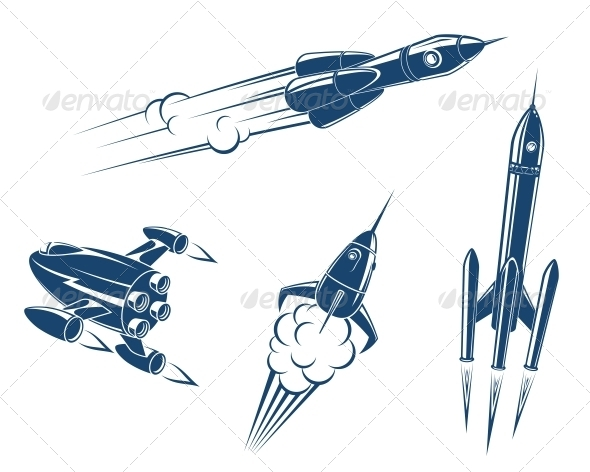 GraphicRiver Spaceships and Rockets 5641055