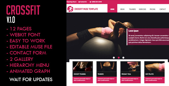Crossfit Muse Template