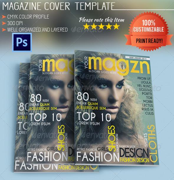 GraphicRiver Fashion Magazine Cover 5570920