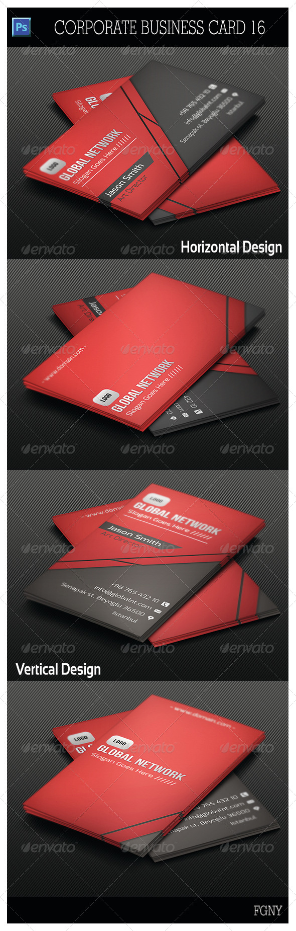 GraphicRiver Corporate Business Card 16 5641322