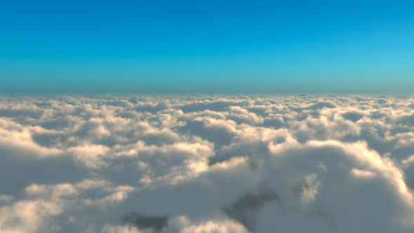 Flying above the clouds by sonosketch videohive
