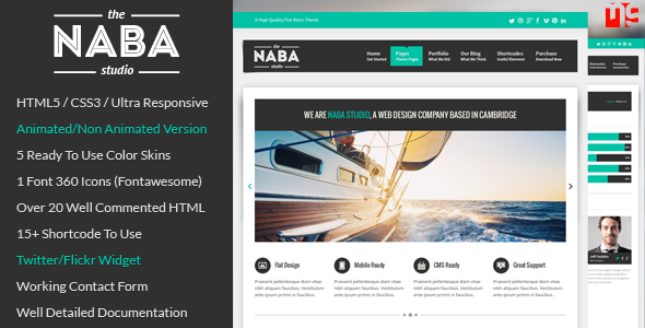 ThemeForest Naba Multipurpose Business HTML Template 5640288