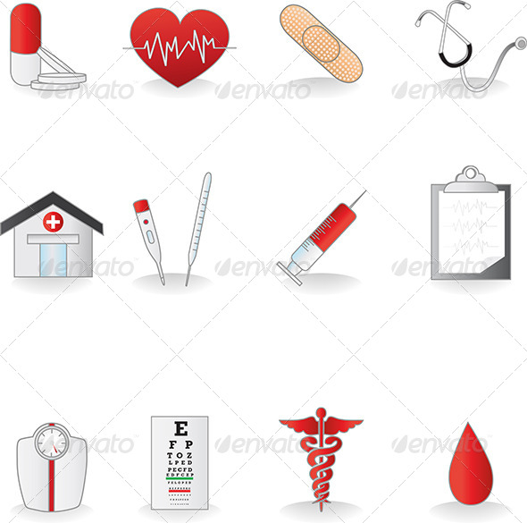 GraphicRiver Medical icons 5641859
