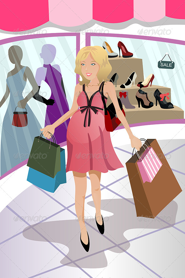 GraphicRiver Shopping Pregnant Woman 5642025
