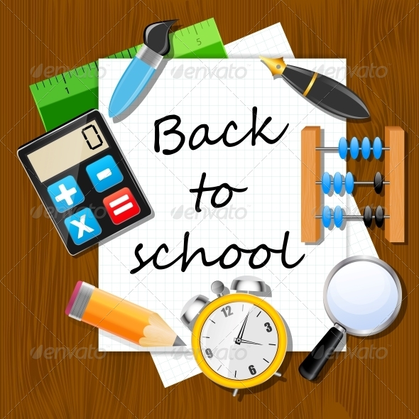 GraphicRiver Back to School Vector Background 5642103
