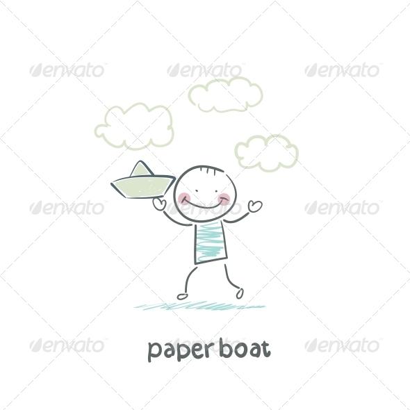 GraphicRiver Paper Boat 5642104
