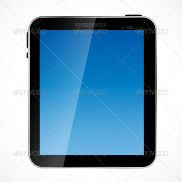 Abstract Digital Tablet Vector Illustration