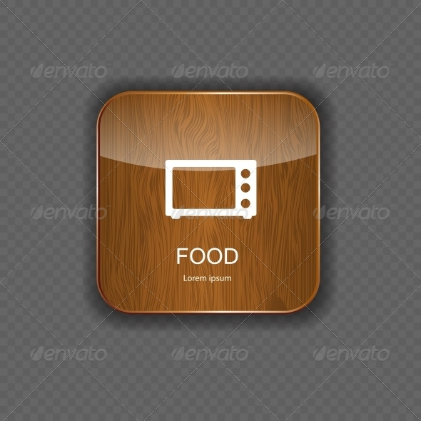 GraphicRiver Food and Drink Wood Application Icons 5642271