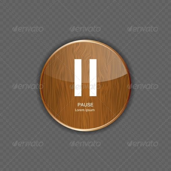 GraphicRiver Music Wood Application Icons Vector Illustration 5642349