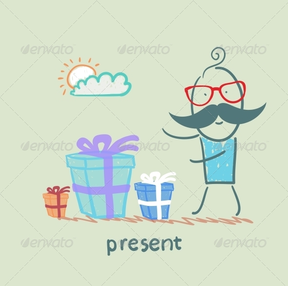 GraphicRiver Man with Gifts 5642562