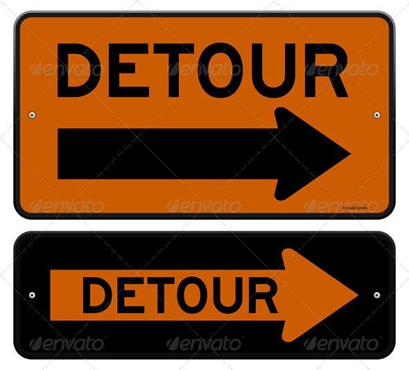 GraphicRiver Detour Sign 5642594