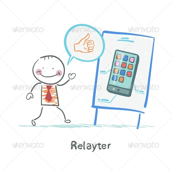 GraphicRiver Relayter Praises Mobile Phone 5642601