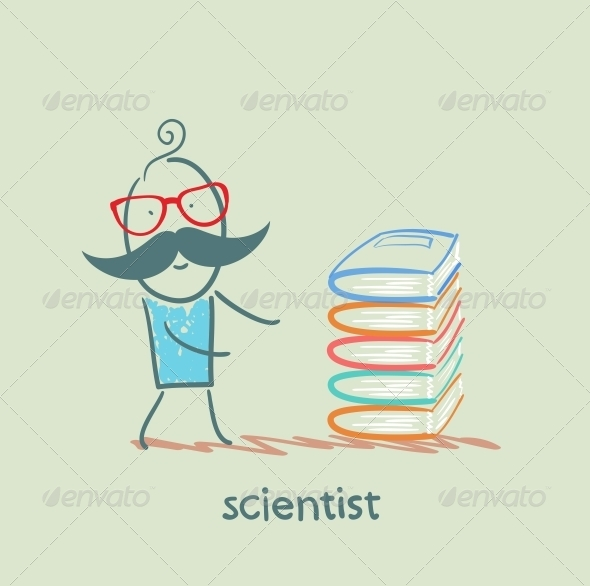 GraphicRiver Scientist with Books 5642610