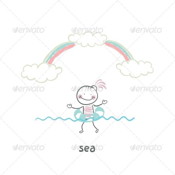 GraphicRiver Swim in the Sea 5642612