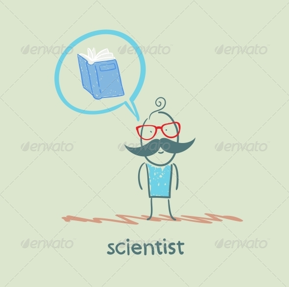GraphicRiver Scientist Thinks About the Book 5642663