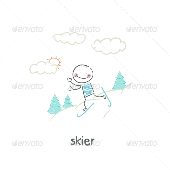 GraphicRiver Skier 5642696