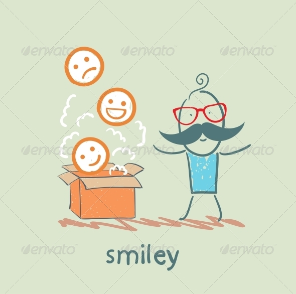 GraphicRiver Man Opened the Box with Smiles 5642705