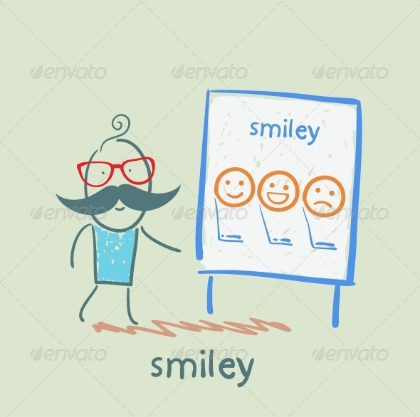 GraphicRiver Man Showing a Presentation with Smiles 5642712