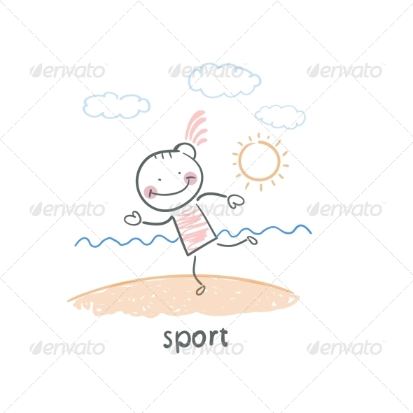 GraphicRiver Sports on the Beach 5642894