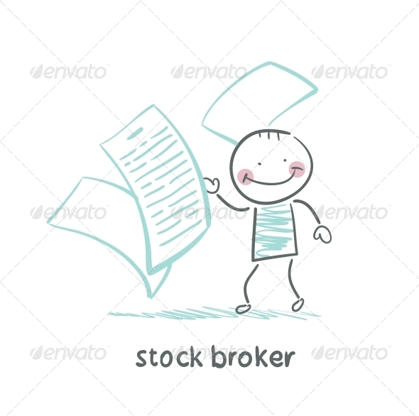 GraphicRiver Stock Broker with Documents 5642906