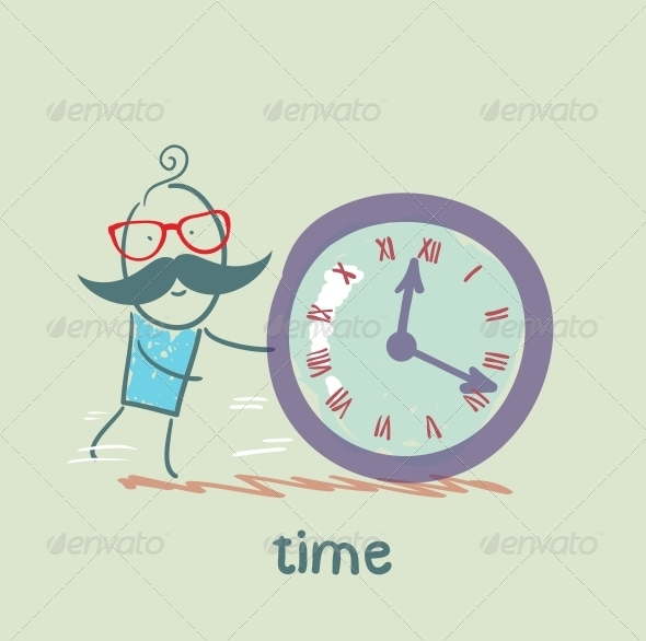 GraphicRiver Man Controls the Time 5642962