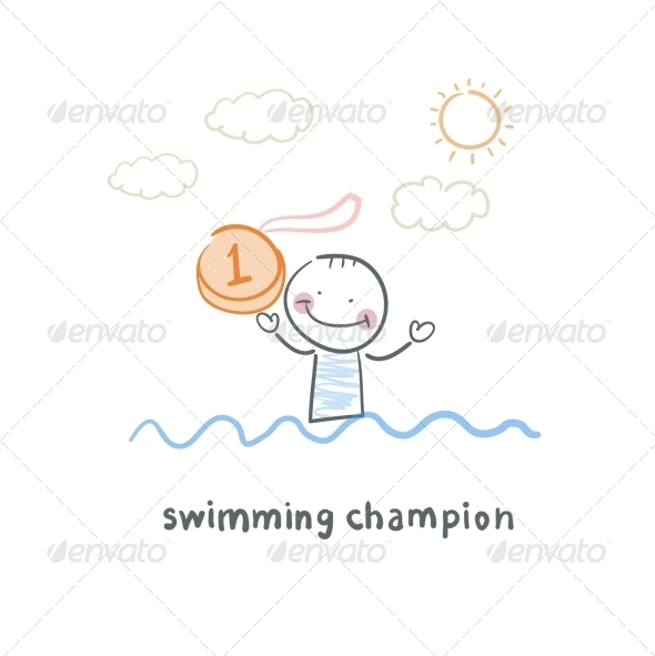GraphicRiver Swimming Champion 5642963