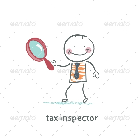 GraphicRiver Tax Inspector with Magnifying Glass 5642986