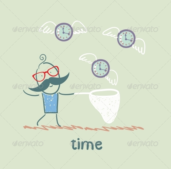 GraphicRiver Man Catches Time 5642993