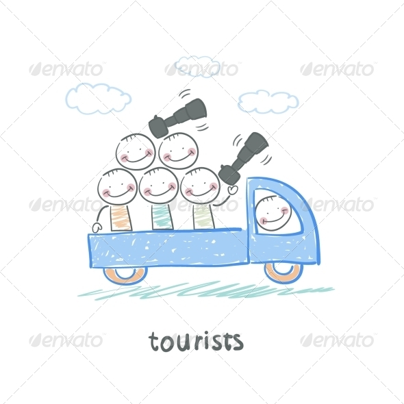 GraphicRiver Tourists 5642997