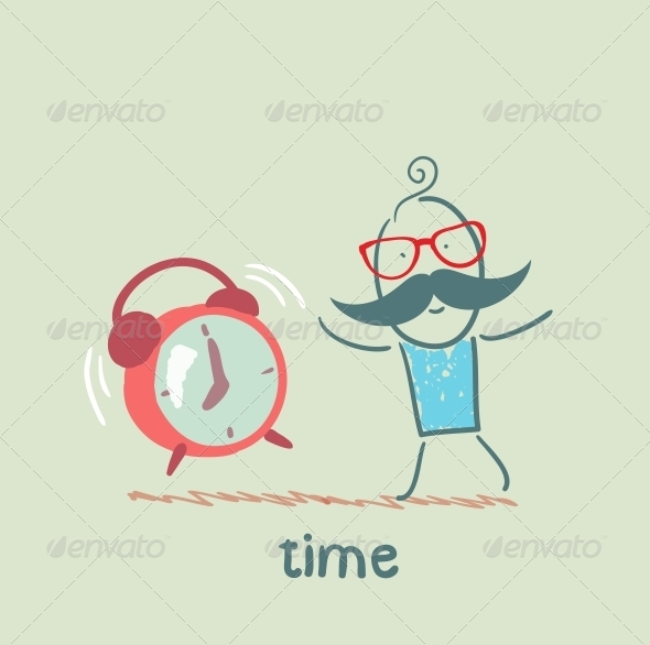 GraphicRiver Man with an Alarm Clock Ringing 5643015