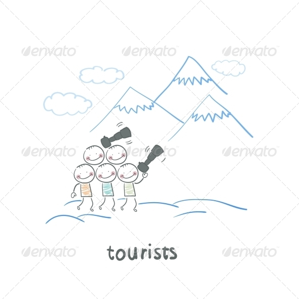 GraphicRiver Tourists 5643017