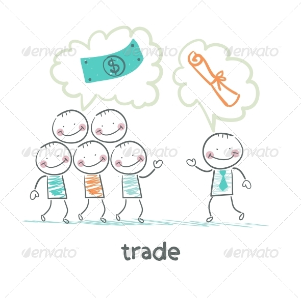GraphicRiver Trade Talks to People About the Documents 5643052