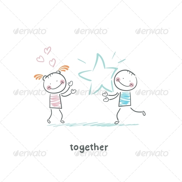 GraphicRiver Couple in Love 5643124