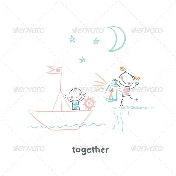 GraphicRiver Couple in Love 5643210