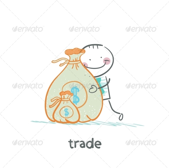 GraphicRiver Hugging a Bag of Money 5643211