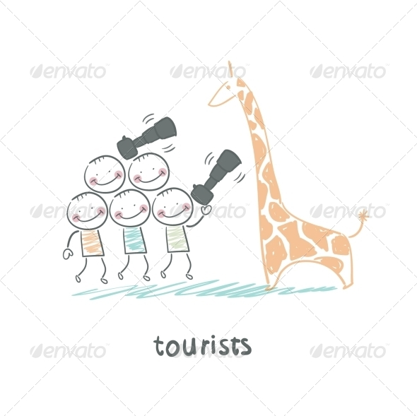 GraphicRiver Tourists 5643261