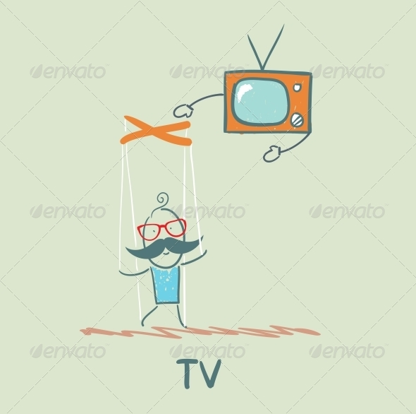 GraphicRiver TV Controls the Person 5643393