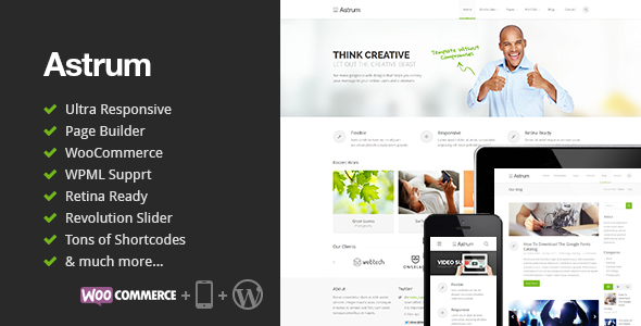 ThemeForest Astrum Responsive Multi-Purpose WordPress Theme 5643402
