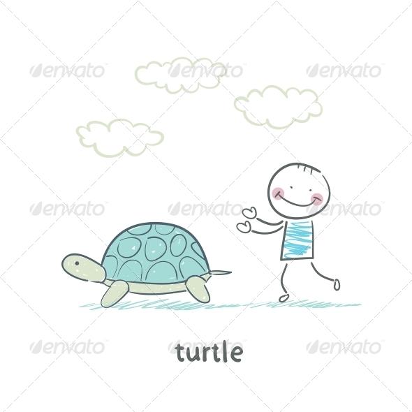 GraphicRiver Tortoise and Person 5643408