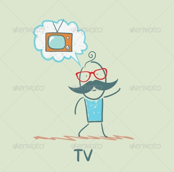 GraphicRiver One Thinks of the TV 5643411