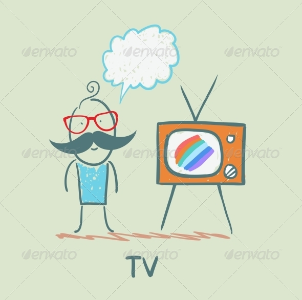 GraphicRiver People like to Watch TV 5643419