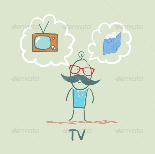 GraphicRiver One Thinks of the TV and Book 5643447