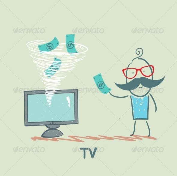 GraphicRiver TV Takes Money From the Man 5643448