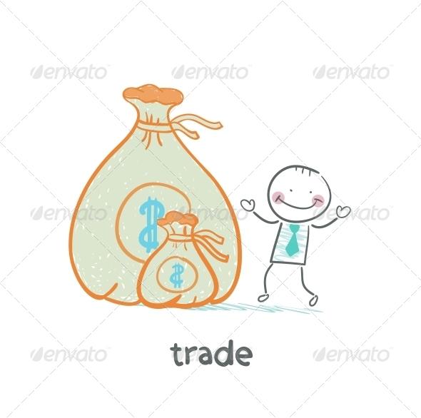 GraphicRiver Trade Standing Near Money 5643457