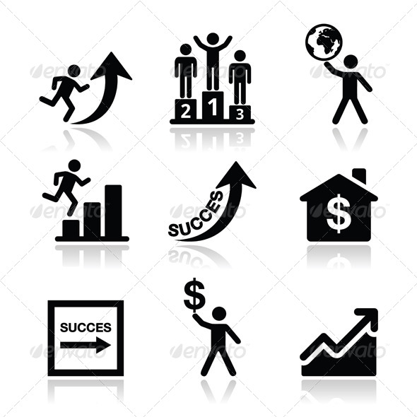 GraphicRiver Success in Business Self Development Icons Set 5643496