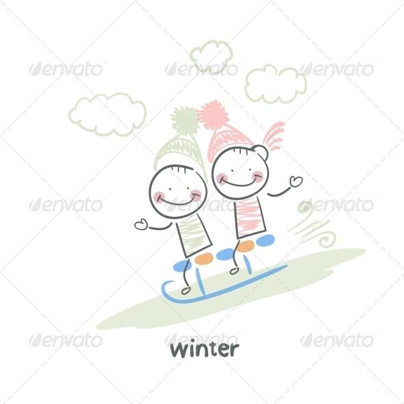 GraphicRiver Winter Walk 5643497