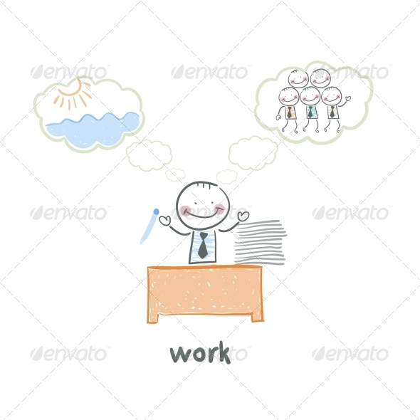 GraphicRiver Man and Work 5643514